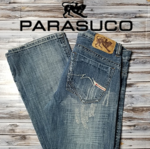 Parasuco Other - Parasuco Distressed Mens Jeans 32x34 Blue